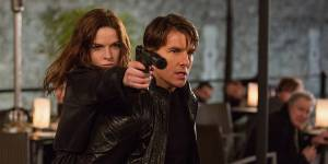 Rebecca Ferguson og Tom Cruise i Mission- Impossible - Rogue Nation